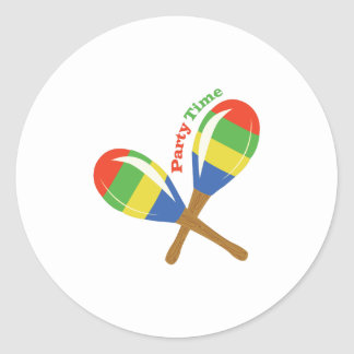 Party Time Round Sticker