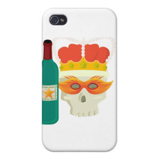 PARTY TIME SKULLY PRINT iPhone 4 COVER
