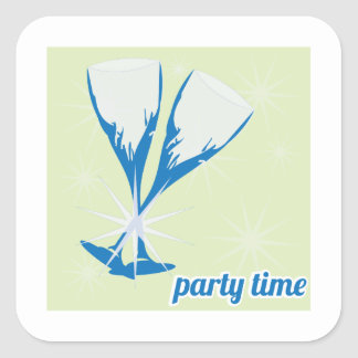 Party Time Square Sticker