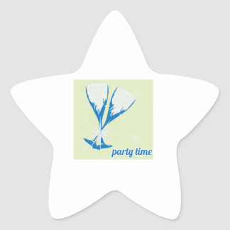 Party Time Star Sticker