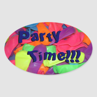 Party Time!!! Oval Sticker