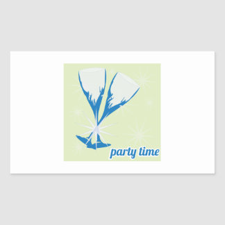 Party Time Rectangle Stickers