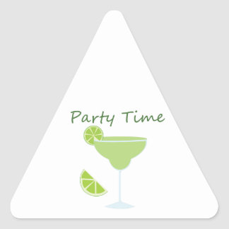 Party Time Triangle Stickers
