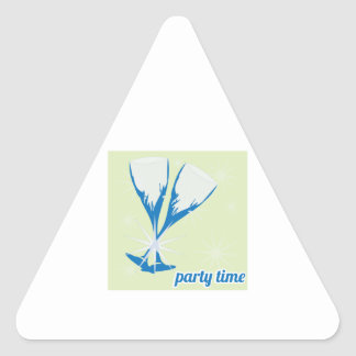 Party Time Triangle Sticker