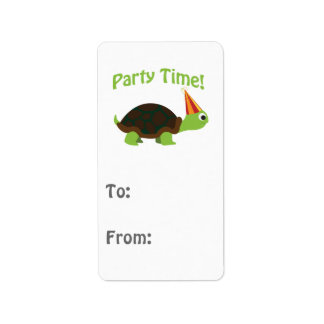 Party Time! Turtle Label