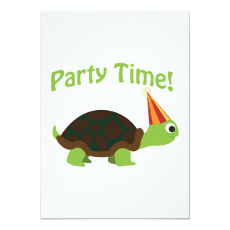 Party Time! Turtle Party Invitation