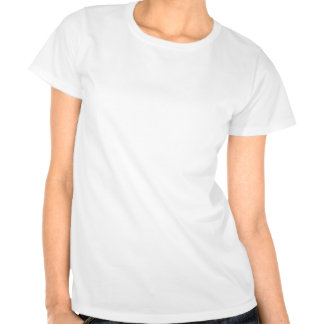 Party Time White Satin Flower Party Holiday Tee Shirts