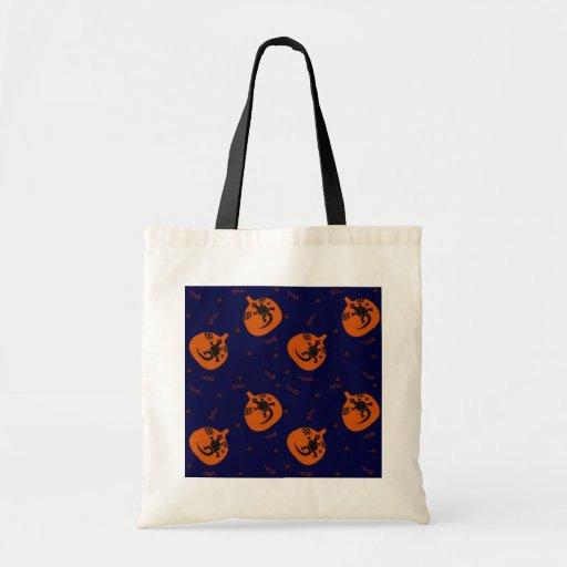 Party Tote Bag Halloween Pumpkin Squash w/ Iguana