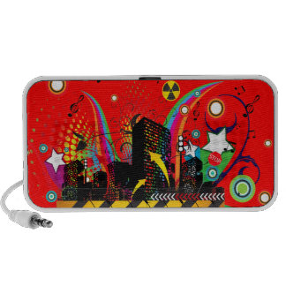 Party Town USA - Vector Street Art- Customizable Portable Speakers