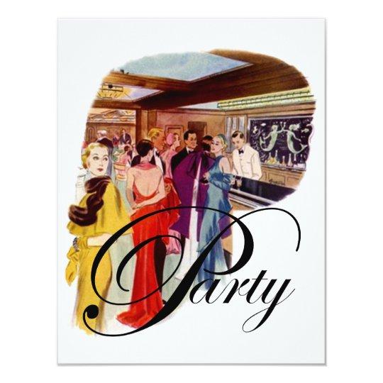 Party Vintage art deco fashion style Invitation