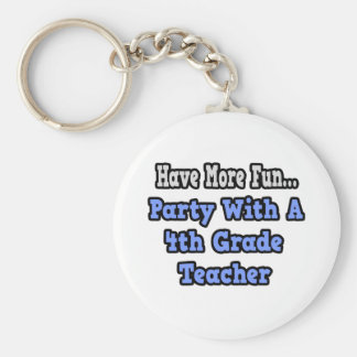 Party With A 4th Grade Teacher Key Chains
