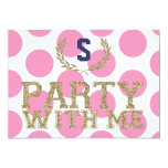 PARTY with ME Pink Love Inspired Sweet 16 13 Cm X 18 Cm Invitation Card