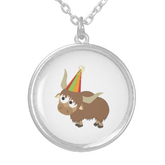 Party Yak Round Pendant Necklace
