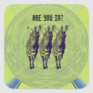 party zebras - are you in? sticker