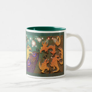 Partying pangolins Two-Tone coffee mug