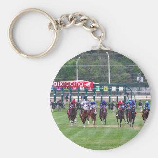 Parx Racing Basic Round Button Key Ring