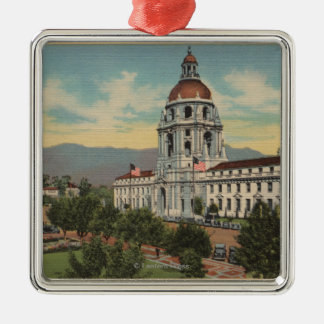 Pasadena, CA - View of City Hall & Public Librar Christmas Ornament