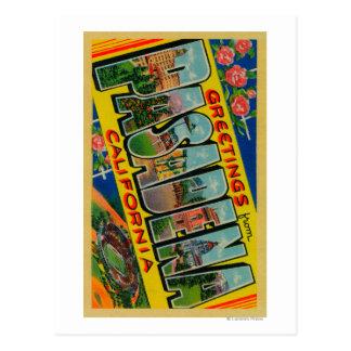 Pasadena California - Large Letter Scenes Post Card