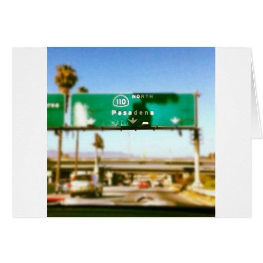 Pasadena en route greeting cards