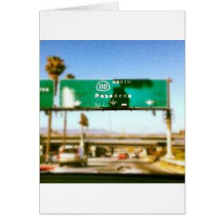 Pasadena en route greeting card