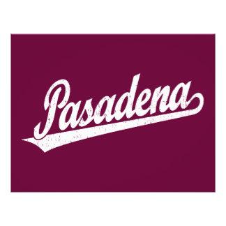 Pasadena script logo in white distressed 21.5 cm x 28 cm flyer