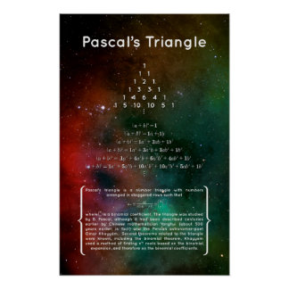 Pascal's Triangle Poster