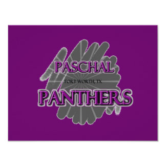 Paschal High School Panthers - Fort Worth, TX 11 Cm X 14 Cm Invitation Card