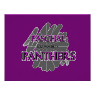Paschal High School Panthers - Fort Worth TX Personalized Invitations