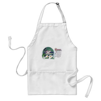 Paschal Lamb and White Lilies Vintage Easter Standard Apron