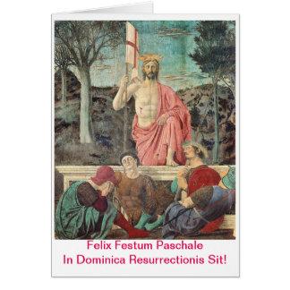 Paschalis Scida In Dominica Resurrectionis Greeting Card