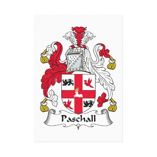 Paschall Family Crest Canvas Print