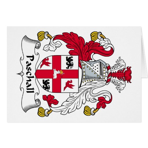 Paschall Family Crest Greeting Card
