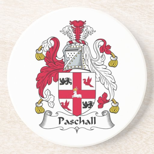 Paschall Family Crest Drink Coaster