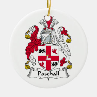 Paschall Family Crest Christmas Ornaments