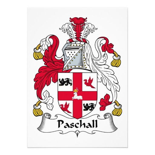 Paschall Family Crest Announcements