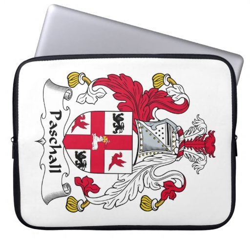 Paschall Family Crest Laptop Sleeves