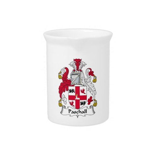 Paschall Family Crest Drink Pitcher