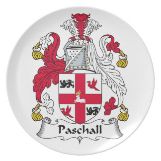 Paschall Family Crest Dinner Plate