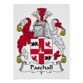 Paschall Family Crest Posters