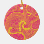 pasely motif christmas ornament