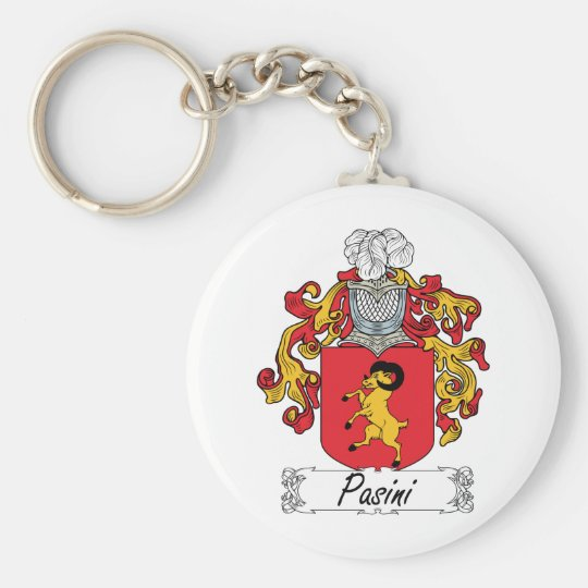 Pasini Family Crest Basic Round Button Key Ring