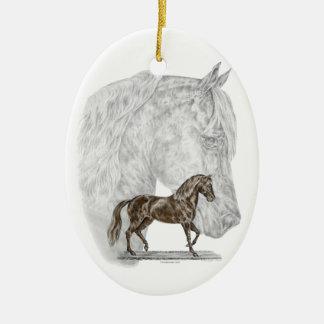 Paso Fino Horse Art Christmas Ornament