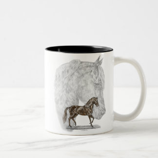 Paso Fino Horse Art Two-Tone Coffee Mug