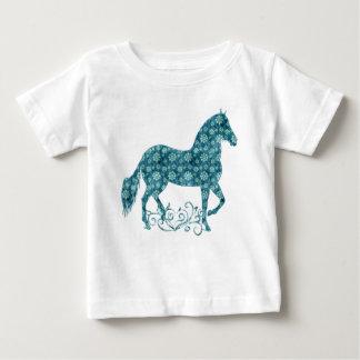 Paso Fino HorseTeal Grunge Floral Shirt