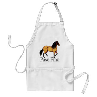 Paso Horse Buckskin Paso Fino Standard Apron