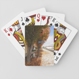 Paso Robles Train Station in Autumn Poker Cards