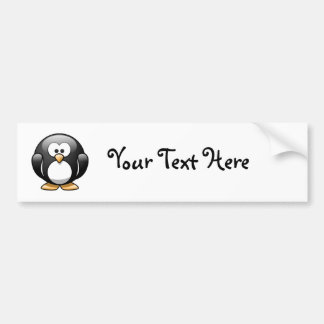 Pasqual the Cartoon Penguin Bumper Sticker
