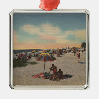 Pass-a-Grille Beach, Florida - Sunbathers on Christmas Ornament