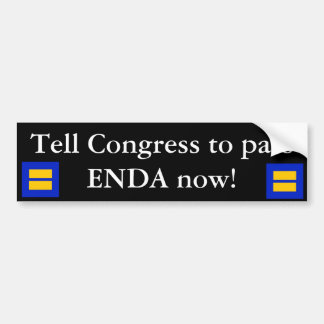 PASS ENDA NOW BUMPER STICKER