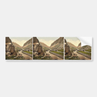 Pass I, Llanberis, Wales rare Photochrom Bumper Sticker